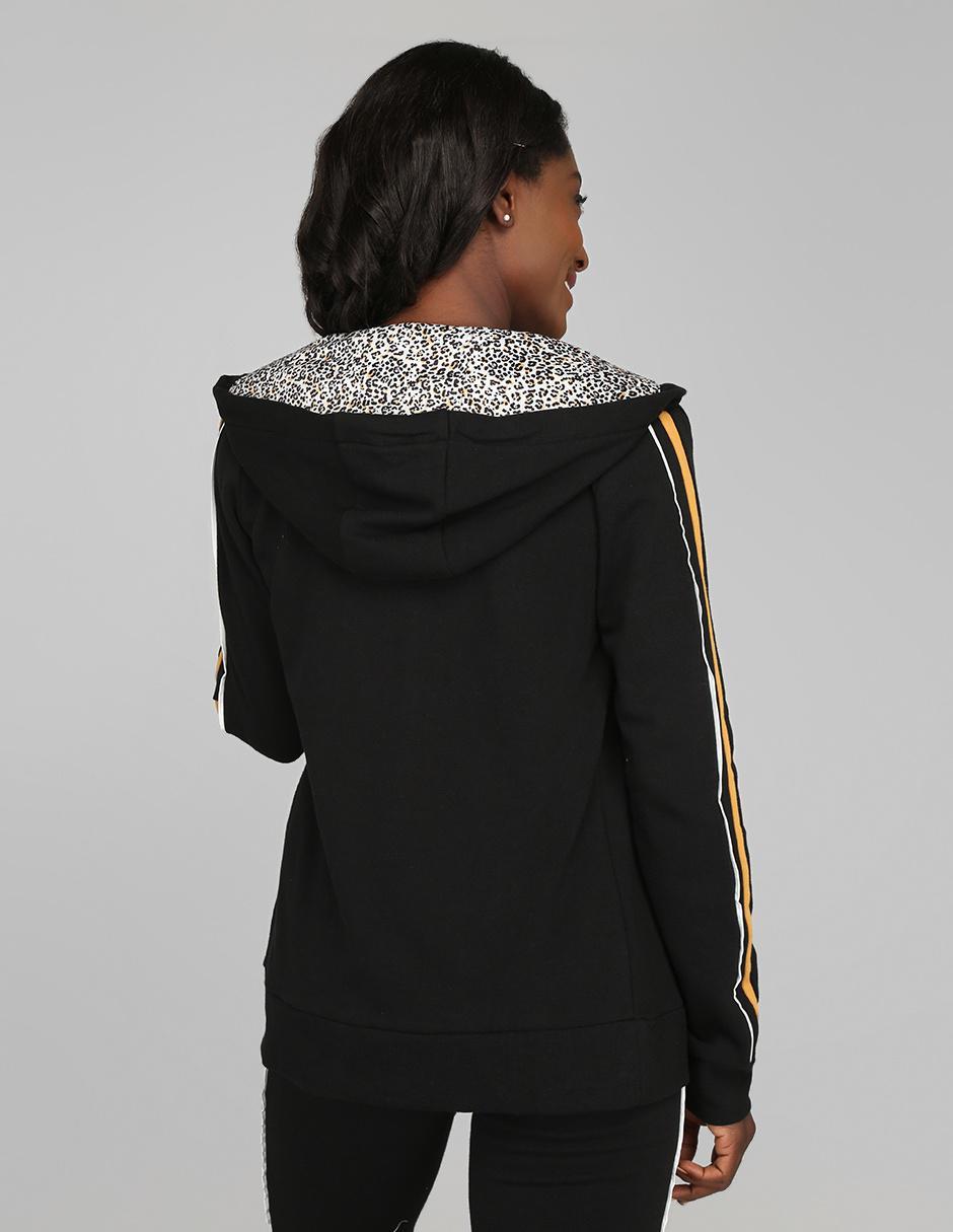 Negra Con Punt Sudadera Capucha Roma gvb76yYf